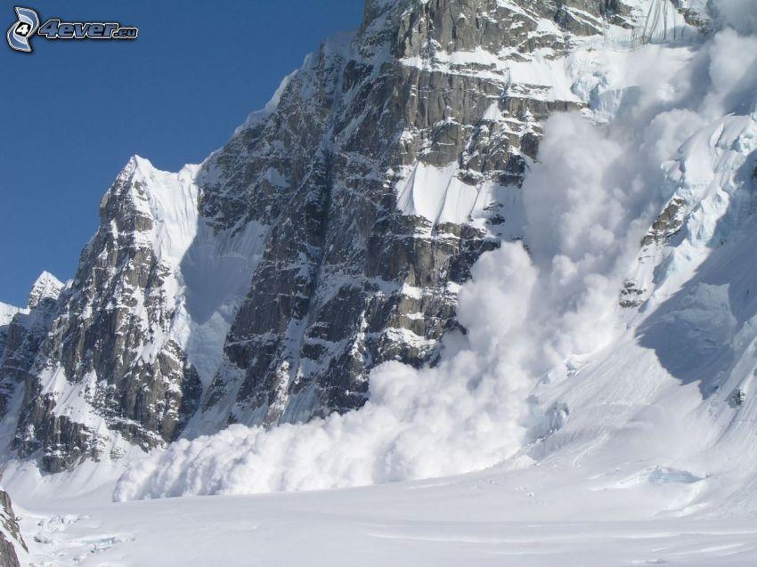 valanga, montagna rocciosa
