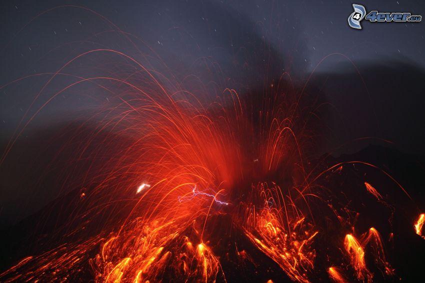 vulcano, esplosione