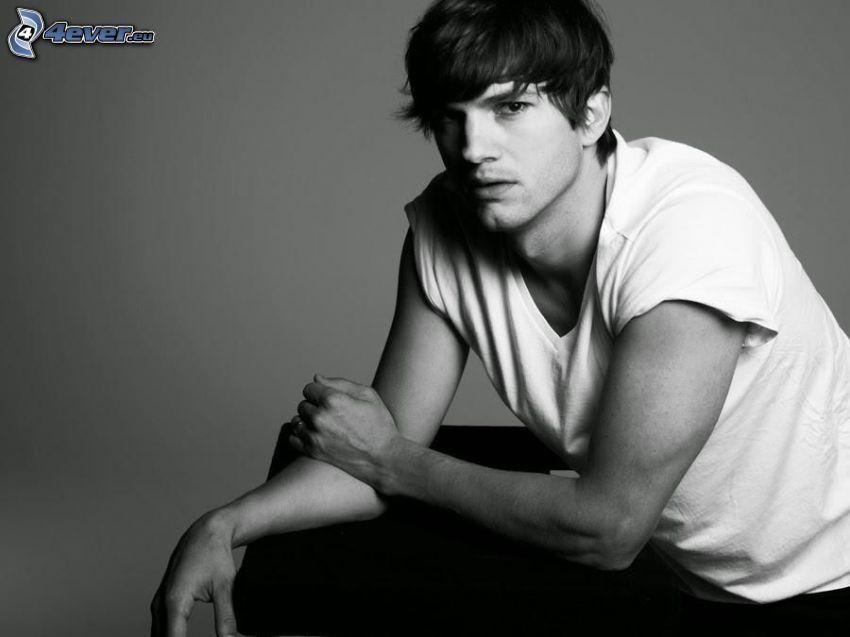 Ashton Kutcher, foto in bianco e nero