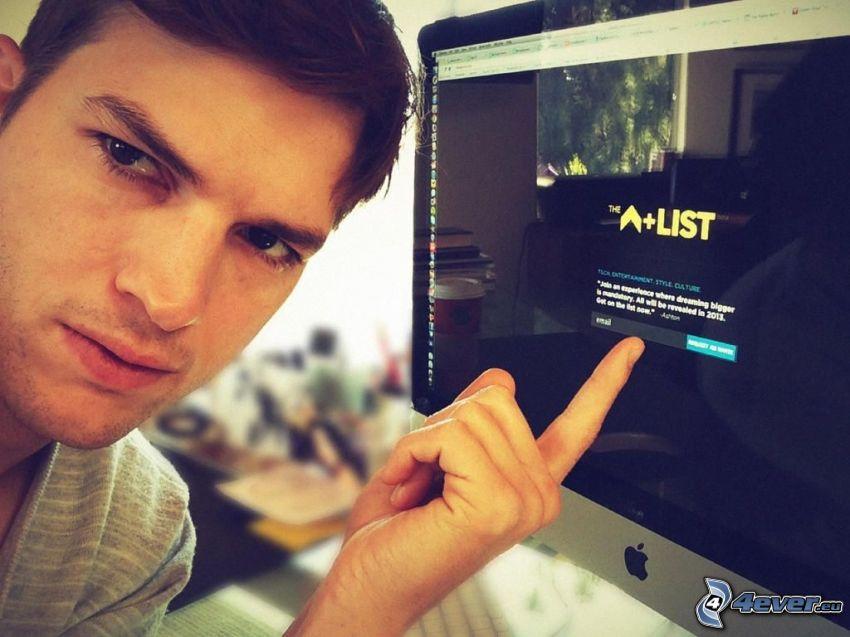 Ashton Kutcher, monitor, Apple