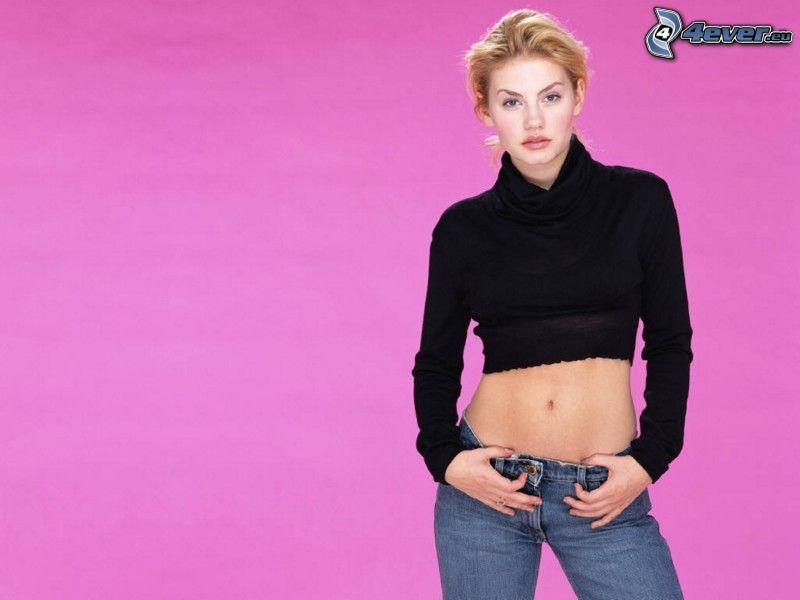 Elisha Cuthbert, jeans, sexy pancia