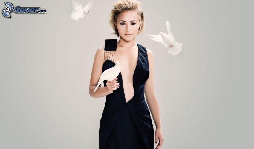 Hayden Panettiere, attrice, colombe, abito nero