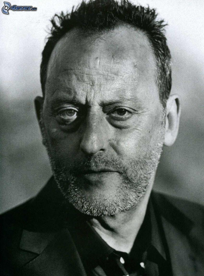 Jean Reno, foto in bianco e nero