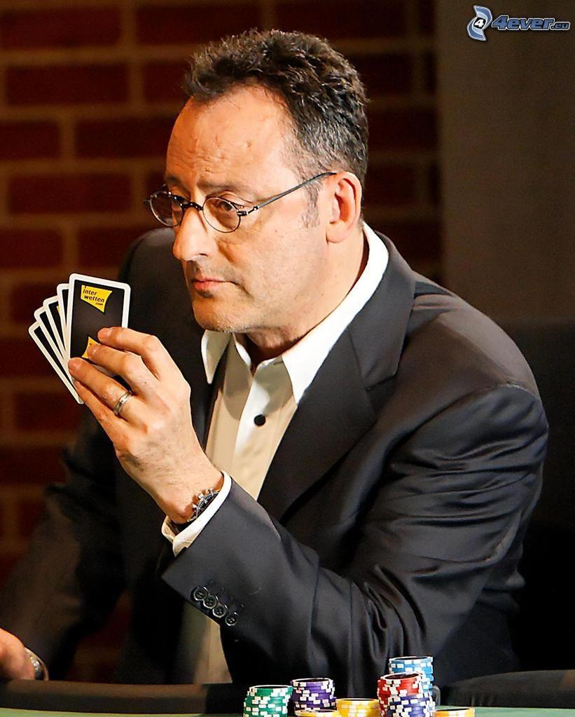 Jean Reno, poker, fiches