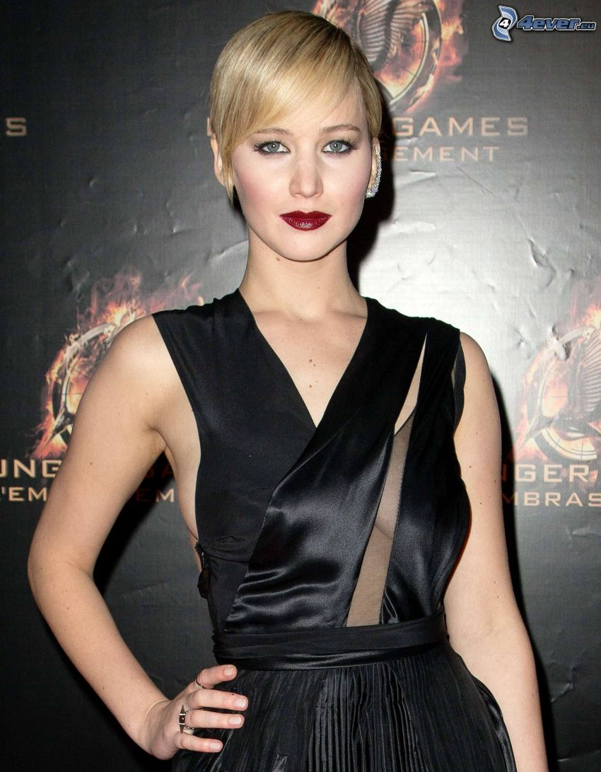 Jennifer Lawrence, abito nero