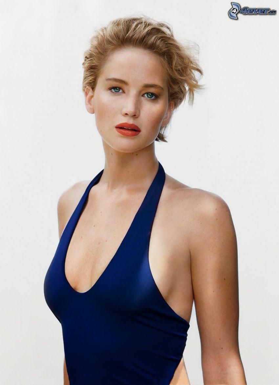 Jennifer Lawrence, vestito blu