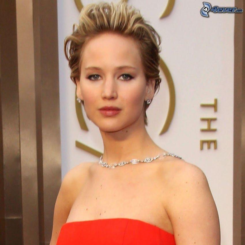 Jennifer Lawrence, vestito rosso