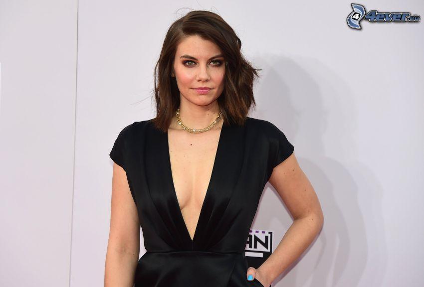 Lauren Cohan, abito nero