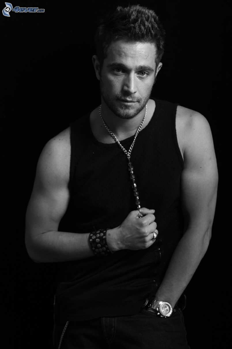 Michel Brown, foto in bianco e nero