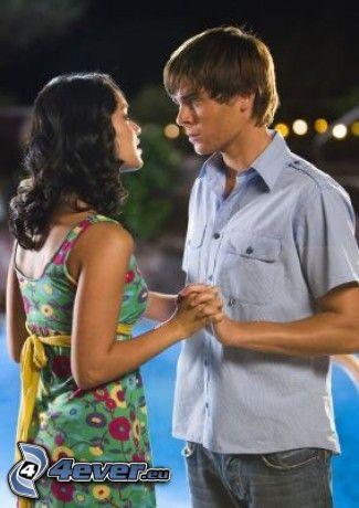 ragazza e ragazzo, Zac Efron, piscina