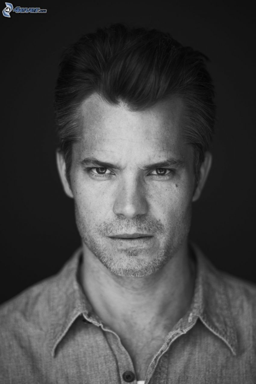 Timothy Olyphant, foto in bianco e nero