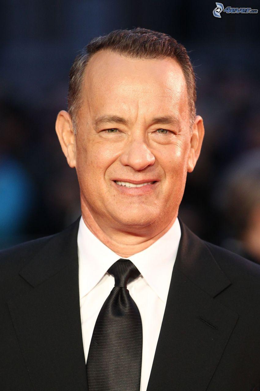 Tom Hanks, sorriso, uomo in abito