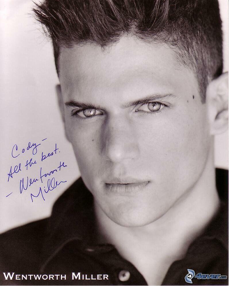 Wentworth Miller, autografo, uomo, Prison Break