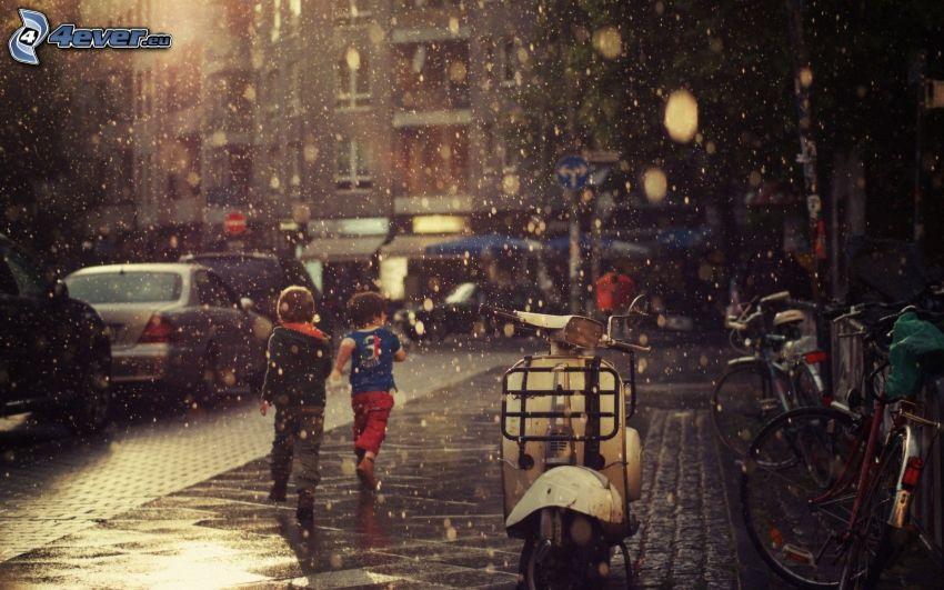 bambini, strada