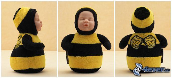 bambino, ape, costume