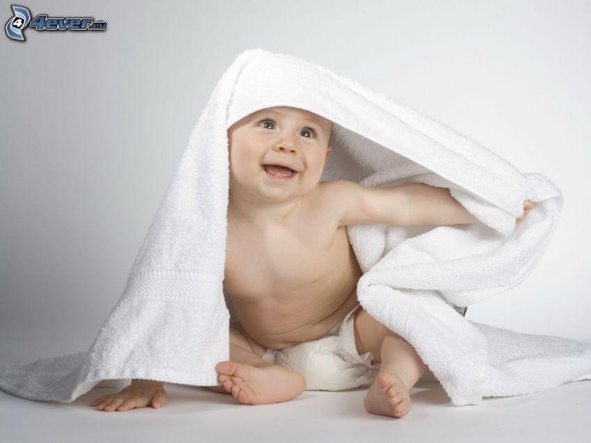 bambino, asciugamano