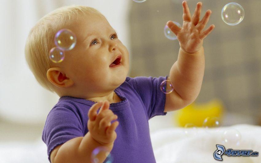 bambino, bolle