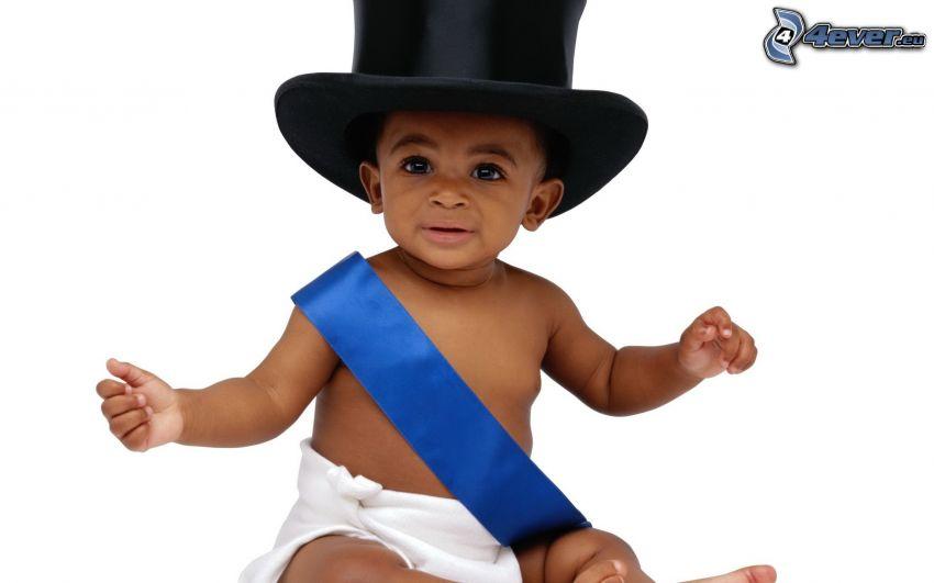 bambino, negro, gentiluomo
