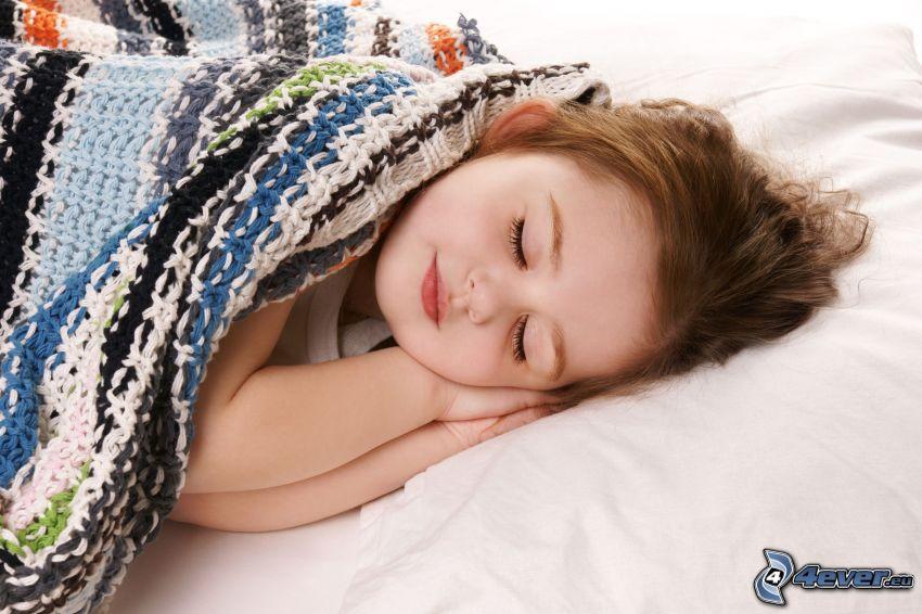 bambino che dorme, ragazza