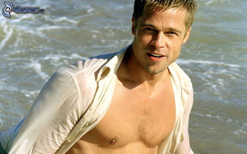 Brad Pitt, attore, acqua