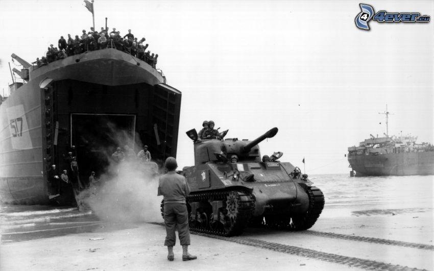 carro armato, soldati, Seconda guerra mondiale