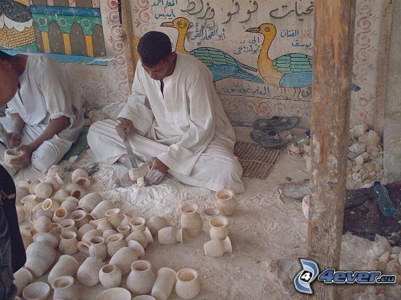 Egitto, ceramica, lavoro
