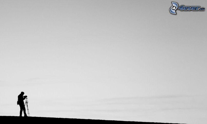 fotografo, silhouette