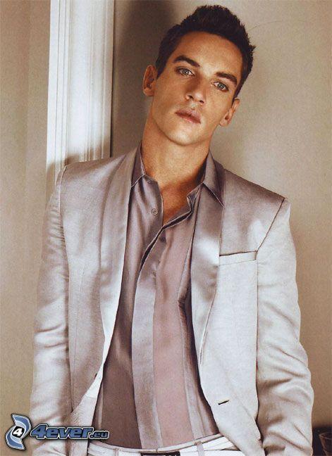 modello, uomo, abito bianco