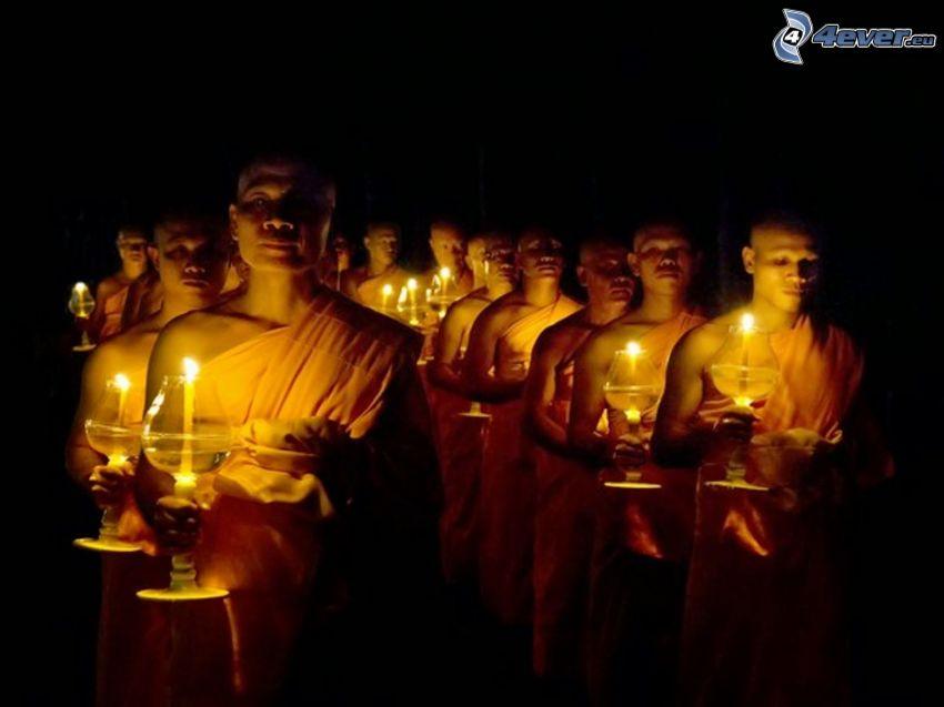 monaci, candele