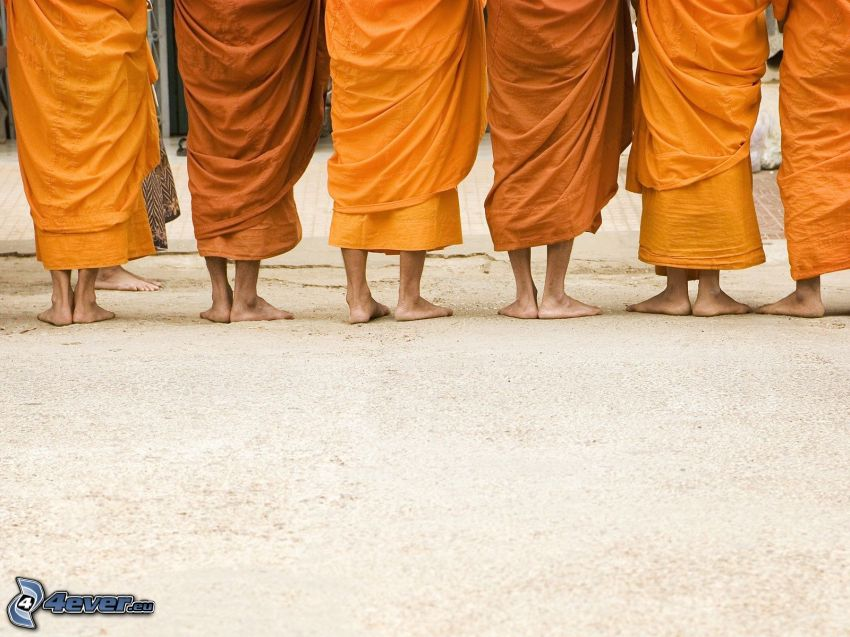 monaci, gambe