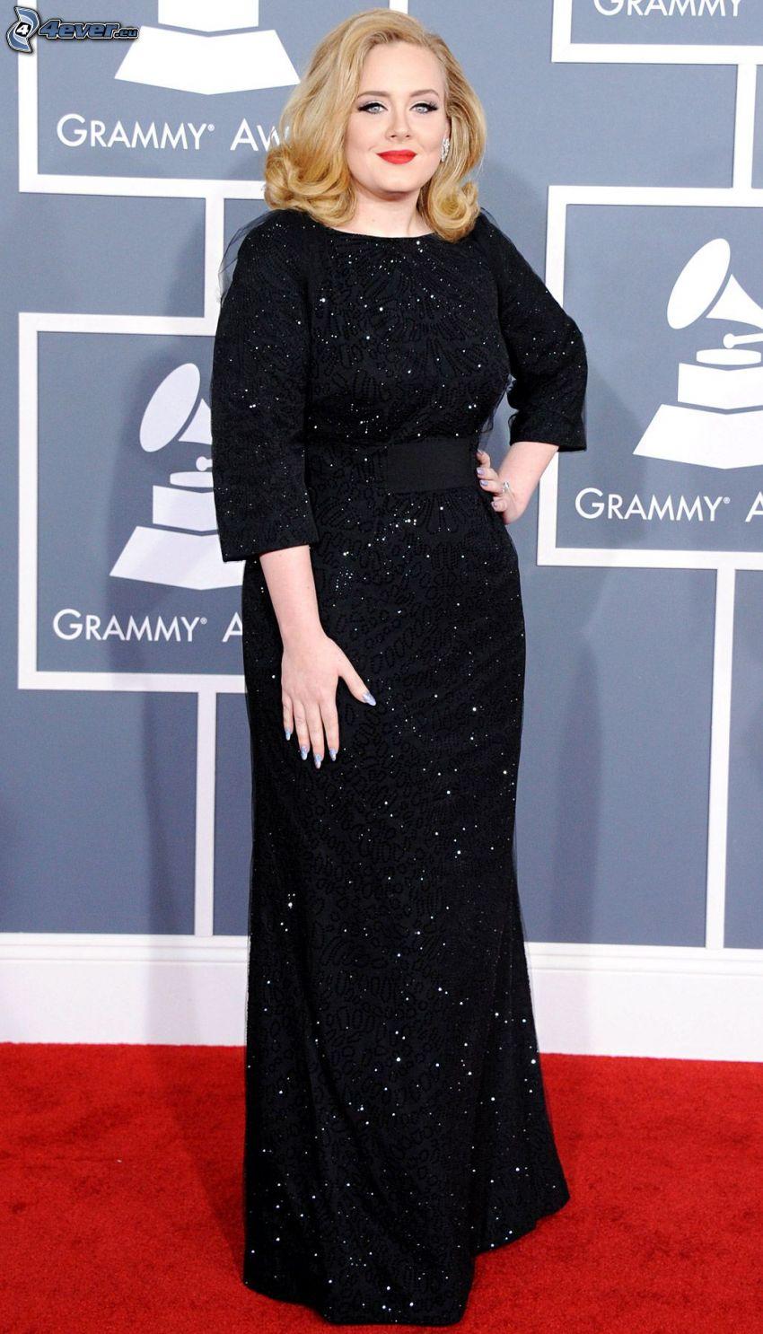 Adele, abito nero