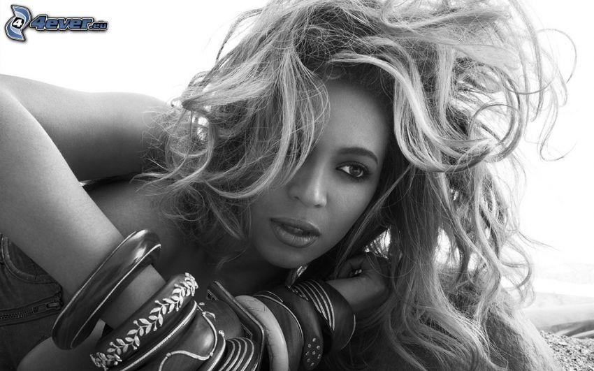 Beyoncé Knowles, foto in bianco e nero