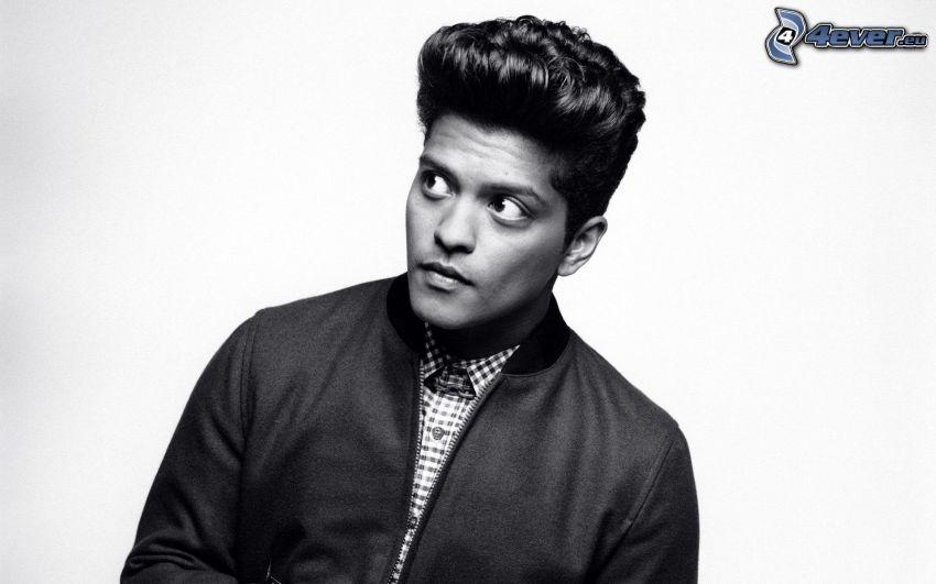 Bruno Mars, foto in bianco e nero