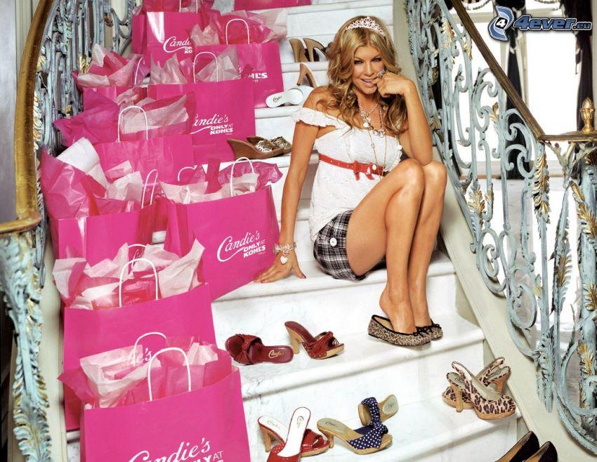 Fergie, scarpe, shopping