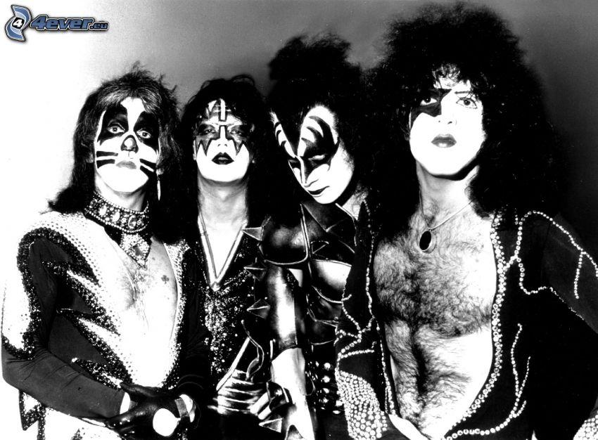 Kiss, foto in bianco e nero