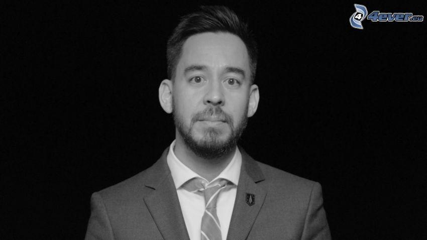 Mike Shinoda, foto in bianco e nero