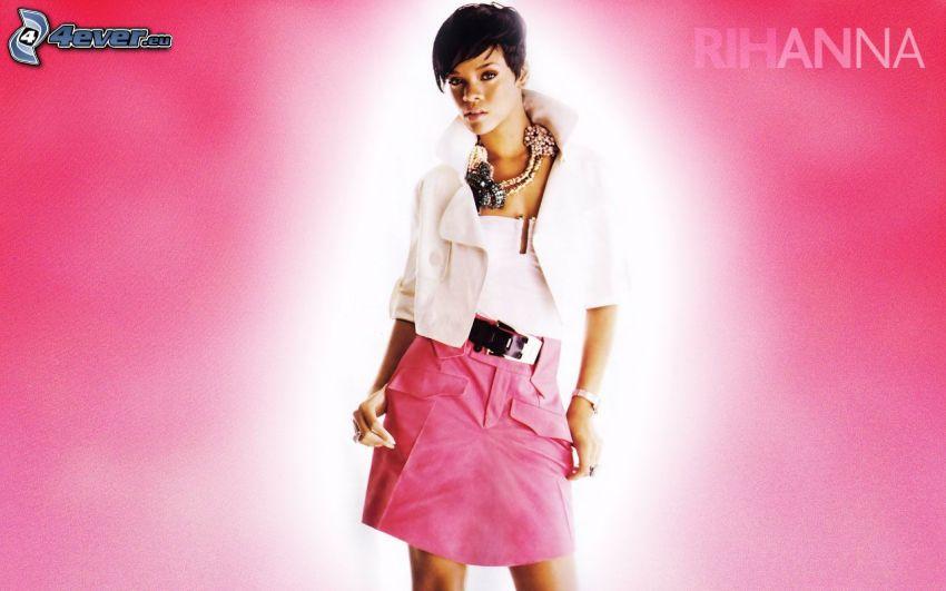 Rihanna, sfondo rosa