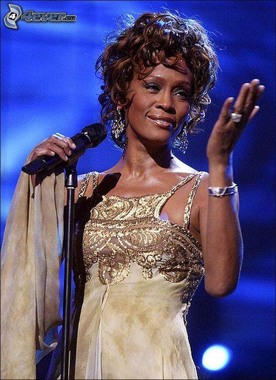 Whitney Houston, microfono
