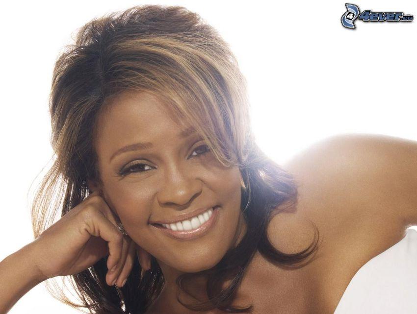 Whitney Houston, sorriso, luce