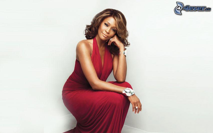 Whitney Houston, vestito rosso