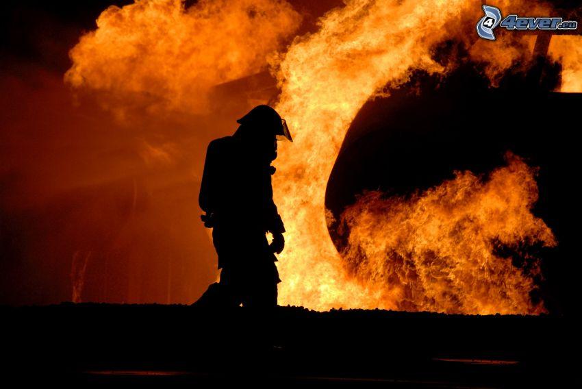 pompiere, fuoco, incendio