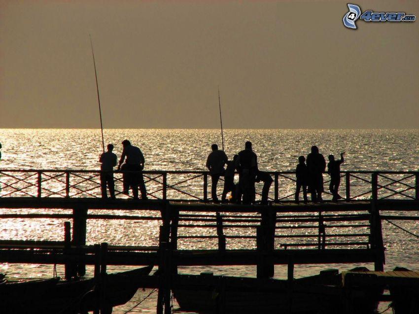 sagome di persone, Pesca
