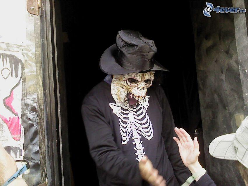scheletro, maschera