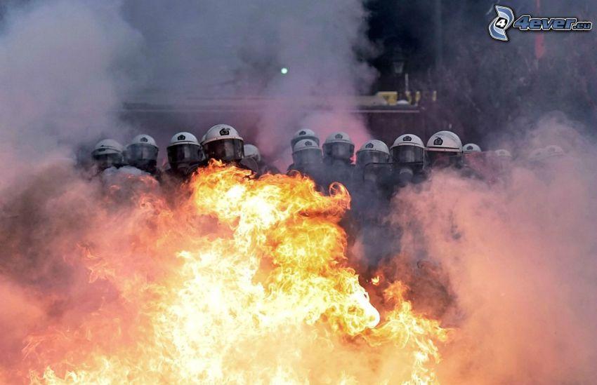 soldati, fuoco