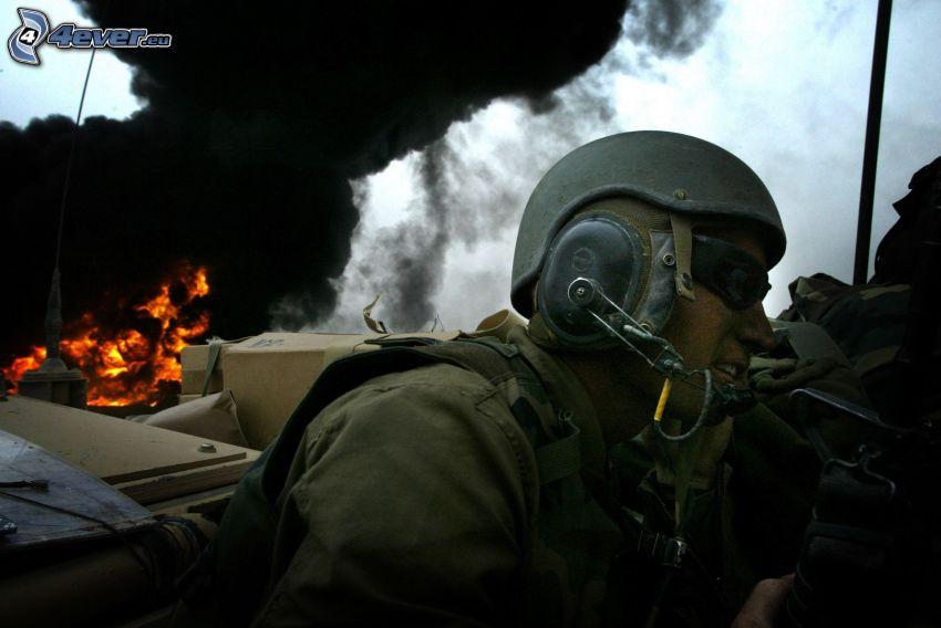 soldato, fuoco