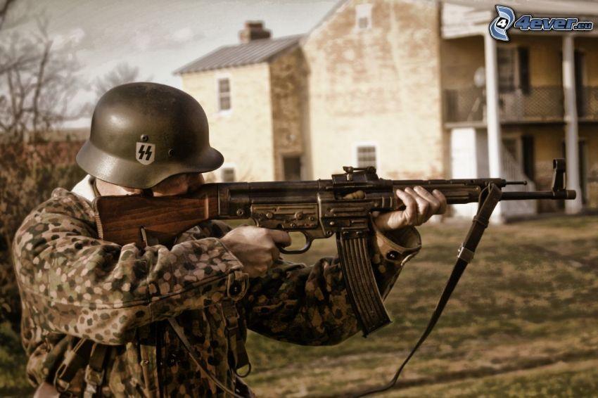 soldato con una arma, SS, Seconda guerra mondiale