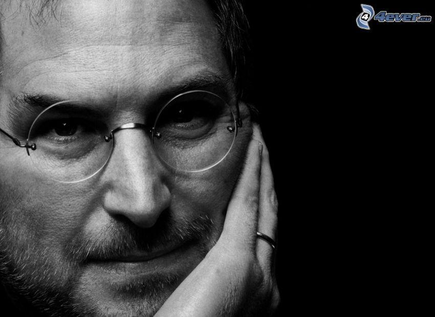 Steve Jobs, foto in bianco e nero