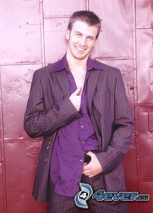 uomo in abito, modello