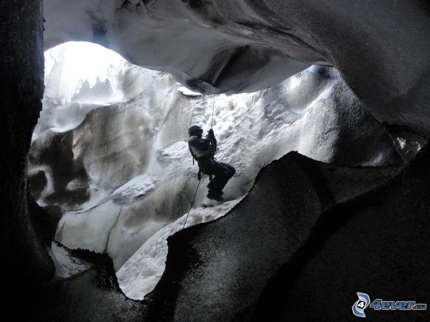 alpinista, ghiaccio
