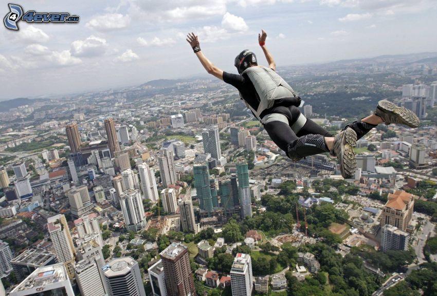 BASE Jump, grattacieli
